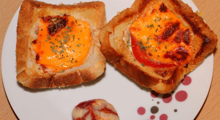 Überbackener Tomatentoast