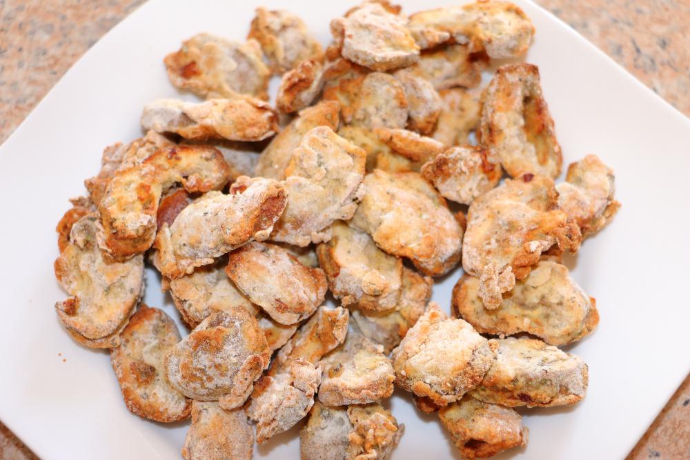 gebackene Champignons