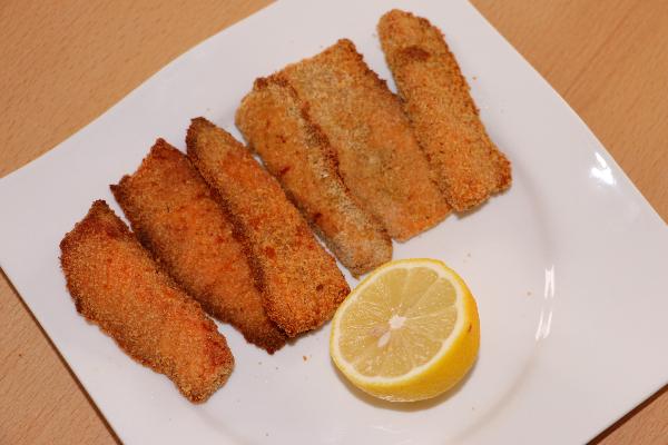 panierte Fischstäbchen